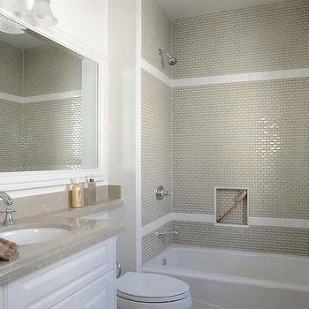 Vanity Countertop Extends Over Toliet, Transitional, Bathroom