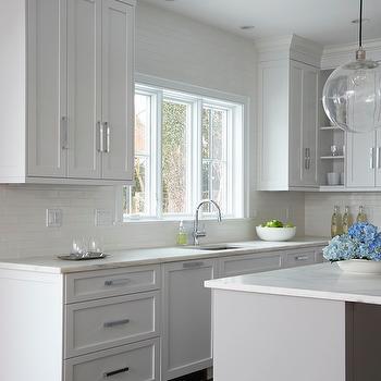 White and Gray Kitchens, Transitional, Kitchen