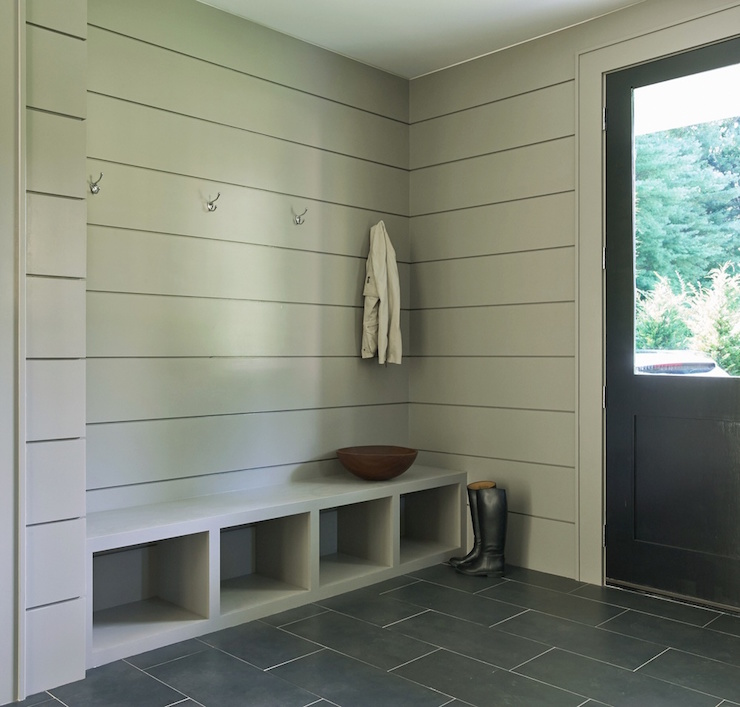 Modern Gray Mudrooms Laundry Room