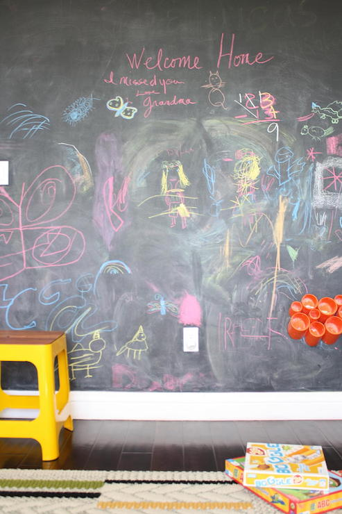 Kids Room With Chalkboard Wall Contemporary Boy 39 S Room