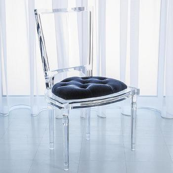 Global Views Marilyn Acrylic Admiral Blue Side Chair