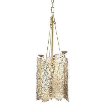 Regina Andrew Lighting Sea Fan Brass Small Chandelier