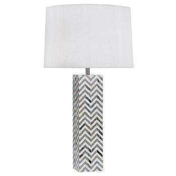 Regina Andrew Lighting Chevron Gray Table Lamp