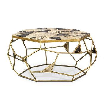 Palecek Giselle Petrified Wood Coffee Table