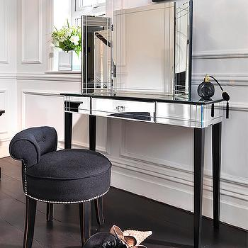 Art Deco Mirrored Vanity, Hollywood Regency, Closet