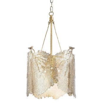 Regina Andrew Lighting Sea Fan Brass Large Chandelier