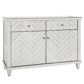 Regina Andrew Furniture Chevron Antique Mirror Buffet