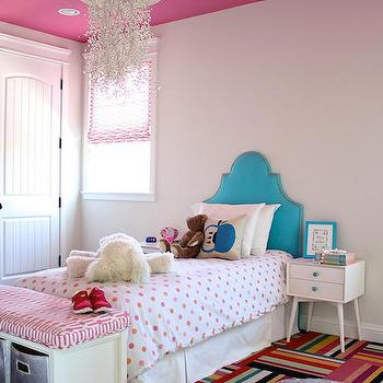 Turquoise Kids Headboard, Contemporary, Girl's Room