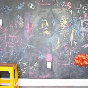 Kids Room with Chalkboard Wall, Contemporary, Boy's Room