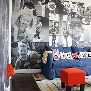 Playroom Photo Wall, Contemporary, Boy's Room