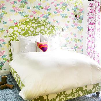 Potalla Background Fabric, Contemporary, Girl's Room
