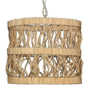 Jamie Young Tropos Natural Beads Chandelier