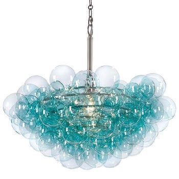 Regina Andrew Lighting Bubbles Aqua Chandelier