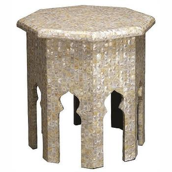 Jamie Young Atlas Mother of Pearl Side Table