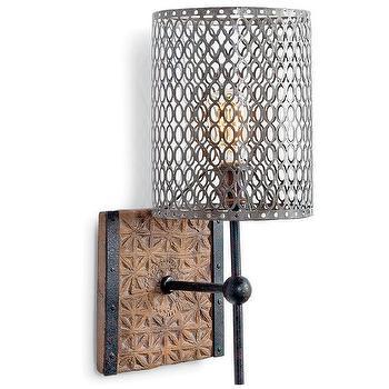 Regina Andrew Lighting Artifact Metal Oval Wall Sconce