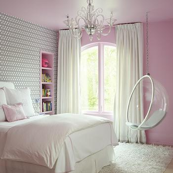 Pink and Gray Kids Bedroom, Contemporary, Girl's Room