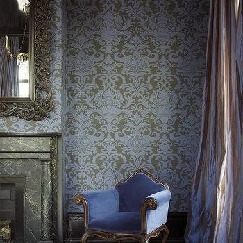 Purple Velvet French Chair, French, Bedroom