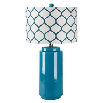 Surya Hadley Blue Morrocan Table Lamp