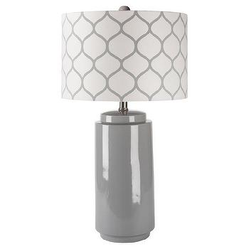 Surya Hadley Gray Morrocan Table Lamp