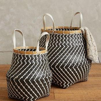 Zigzag Stripe Baskets