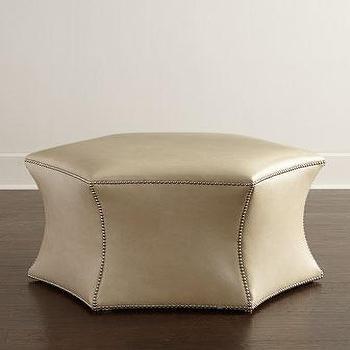 Massoud Tayna Leather Ottoman