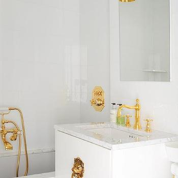White And Gold Bathroom Design Decor Photos Pictures