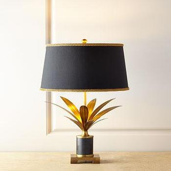 Lilith Marble Lamp, Black and Gold Lamp