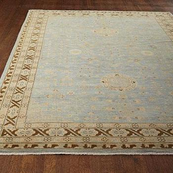 Pinto Rug, Classic Brown And Blue Rug