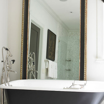 Mirror Behind Tub, Transitional, Bathroom