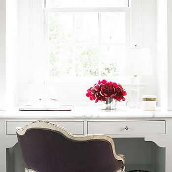 Purple Velvet Vanity Chair, Transitional, Bathroom