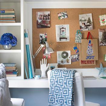 Shelving Unit on Desk, Transitional, Bedroom