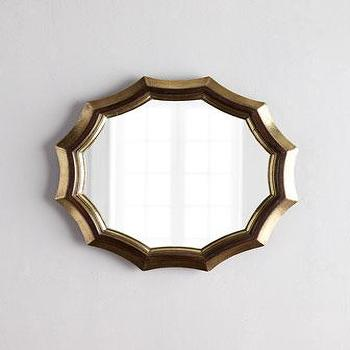 Sinclair Scallop Mirror, Brass Mirror