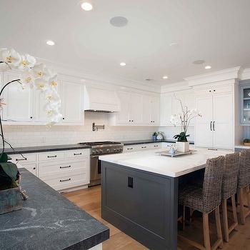 Cottage Kitchen with Soapstone Countertops, Cottage, Kitchen