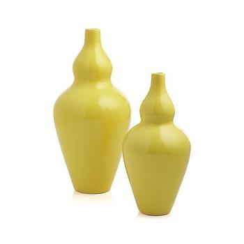 Gourd Yellow Vases