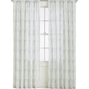 Petra Curtains, White Lacy Botanicals Curtains