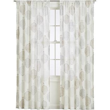 Sunita Curtains, White Lacy Medallions Curtains