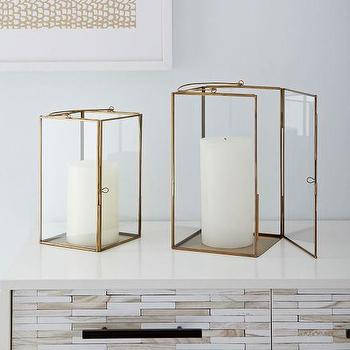 Brass and Glass Lanterns