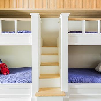 Bunk Beds with Built In Staircase, Cottage, Boy's Room