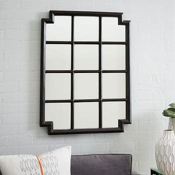 Notched Wall Mirror