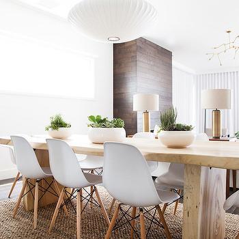 Wood Slab Dining Table, Modern, Dining Room
