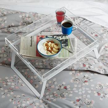 Breakfast Acrylic Tray Stand