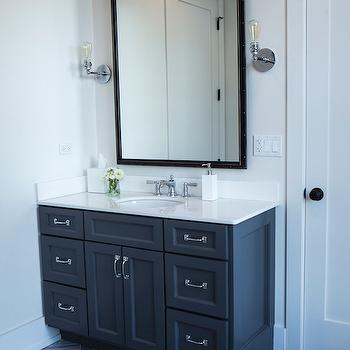 dark gray bathroom vanity - design, decor, photos