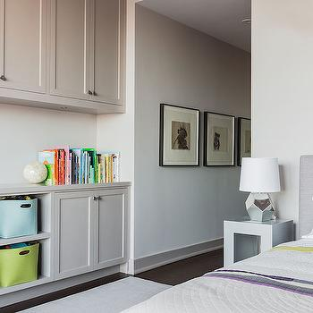 Kids Room with Built In Cabinets, Contemporary, Girl's Room