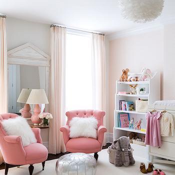 Pink Nursery Ideas, Transitional, Nursery