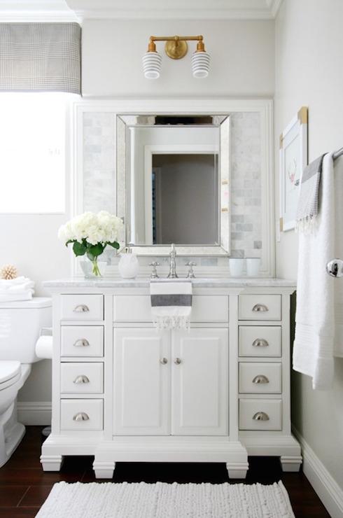 Double abrams sconce transitional bathroom benjamin - Schoolhouse bathroom vanity light ...