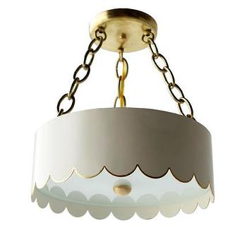 The Scalloped Semi Flush Pendant