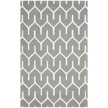 Safavieh Handmade Moroccan Cambridge Dark Grey Ivory Wool Rug