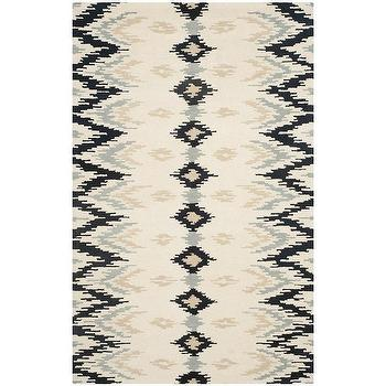 Safavieh Hand-Tufted Soho Ivory Dark Grey Wool Viscose Rug