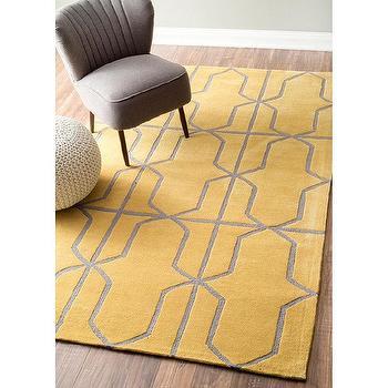 nuLOOM Handmade Modern Geometric Gold Rug