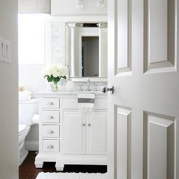 Bathroom with Porcelain Wood Tiles, Transitional, Bathroom, Benjamin Moore Pale Oak